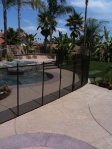 American made black mesh pool fence in Carlsbad