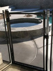 Lake side pool gate