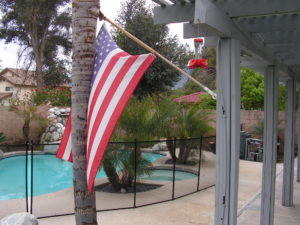 American made Pool fence